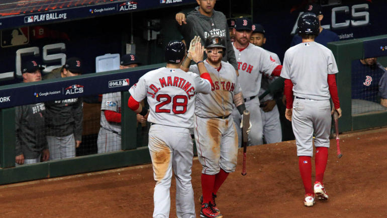 MLB playoffs: Red Sox one win away from the World Series because good hitting beats good pitching