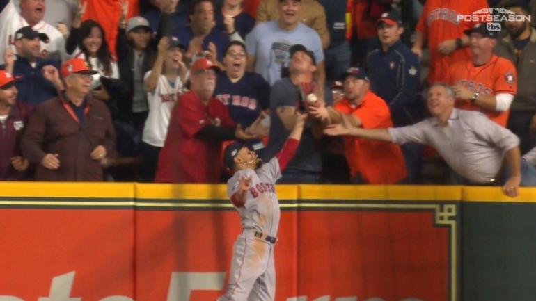 Red Sox vs. Astros: Controversial fan interference plays huge role in first inning of Game 4
