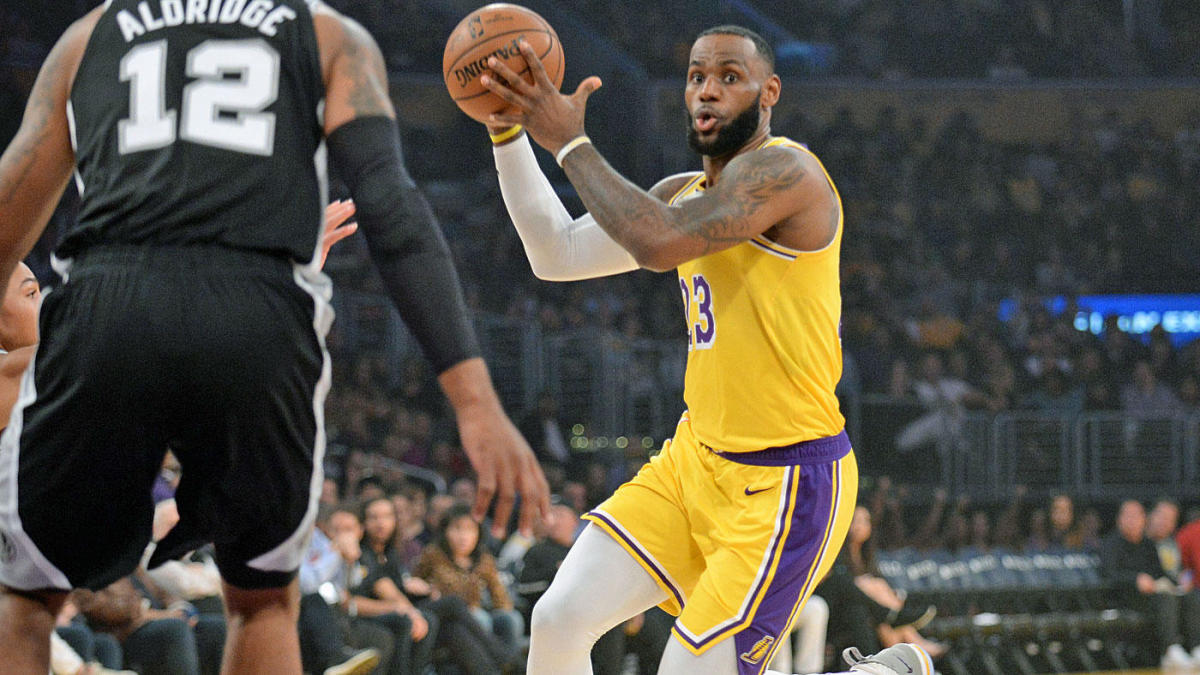 new product 3f15f 56fc3 Lakers-Spurs score, highlights: LeBron James settles for ...