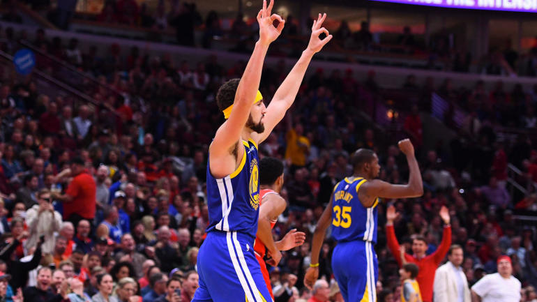 NBA highlights, scores: Warriors' Klay Thompson breaks Stephen Curry's NBA record with 14 3s in historic game