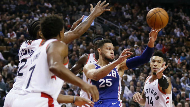 Kawhi Leonard helps force Ben Simmons into 11-turnover game, showing exactly why the Raptors traded for him