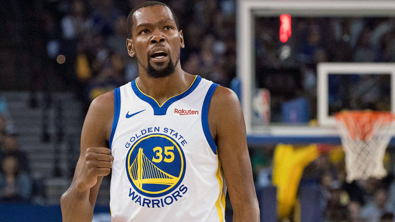 best sneakers 0b4ef cc3d7 Warriors  Kevin Durant reacts to  25K fine, says adult fans heckling  players is  corny  and  weak  - CBSSports.com