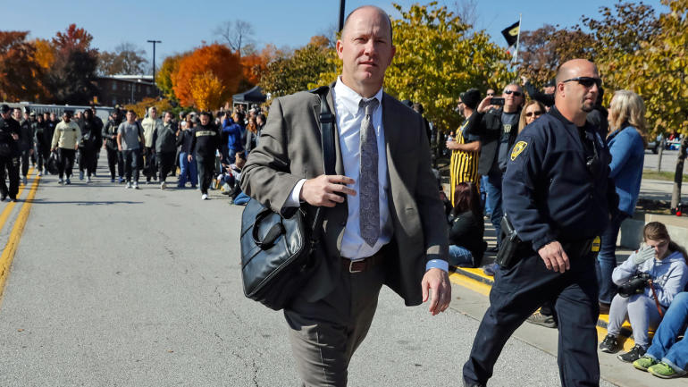 Jeff-brohm-purdue-bag-leaving-getty