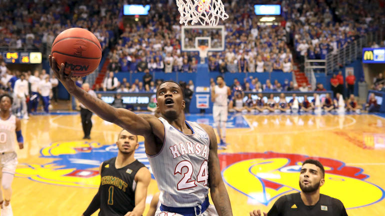 Lagerald Vick goes off, scores career-high 32 points in No. 2 Kansas' victory against Vermont