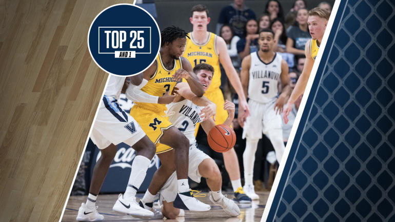 College basketball rankings: Villanova won last season's NCAA Tournament, but falls out of top 20 in Top 25 And 1