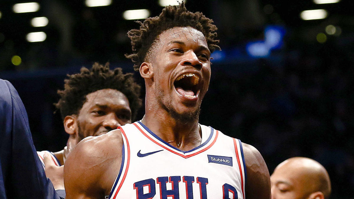 buy online 804c9 9a146 NBA scores, highlights: Jimmy Butler lifts 76ers with latest ...