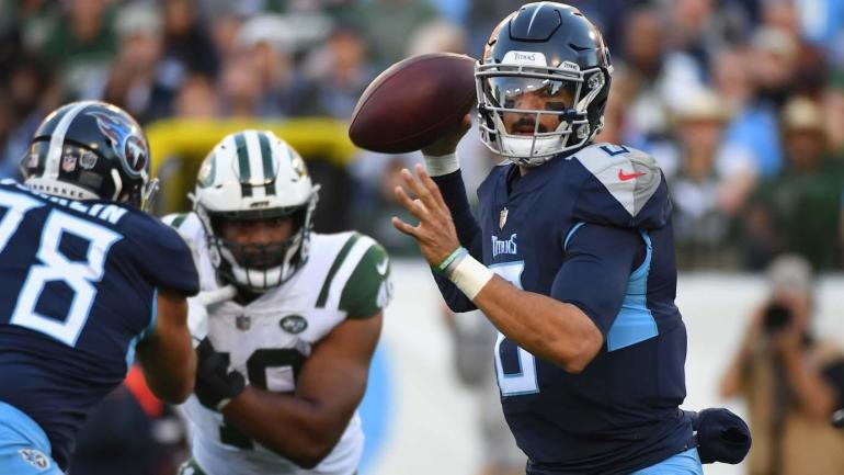 NFL games today, Week 13 scores, highlights, updates, schedule: Marcus Mariota leads late comeback over Jets