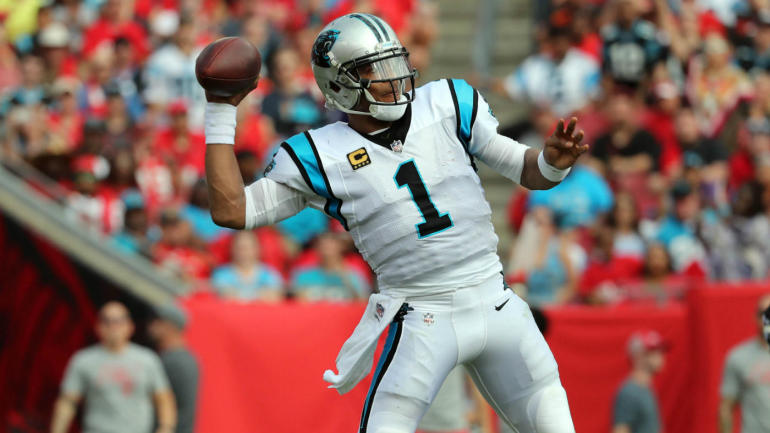 30b325ca6 What s wrong with Cam Newton  QB is clearly injured