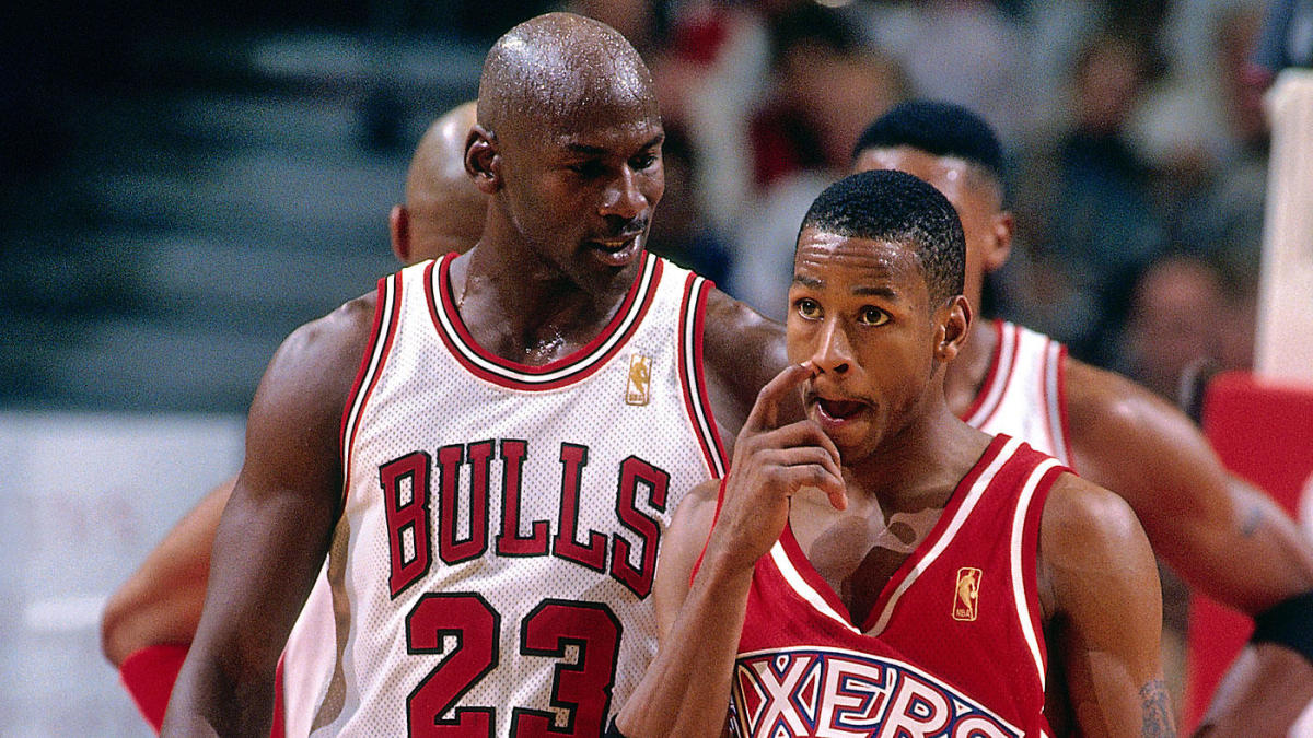 34bd908c24c Allen Iverson says there's no G.O.A.T. debate between Michael Jordan and LeBron  James: 'We're talking about Mike' - CBSSports.com