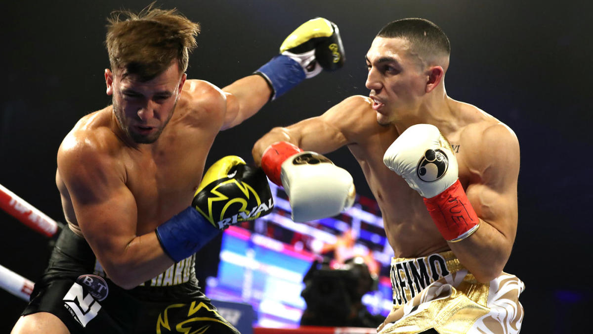 cbs sports best boxing knockouts of 2018 teofimo lopez flattening