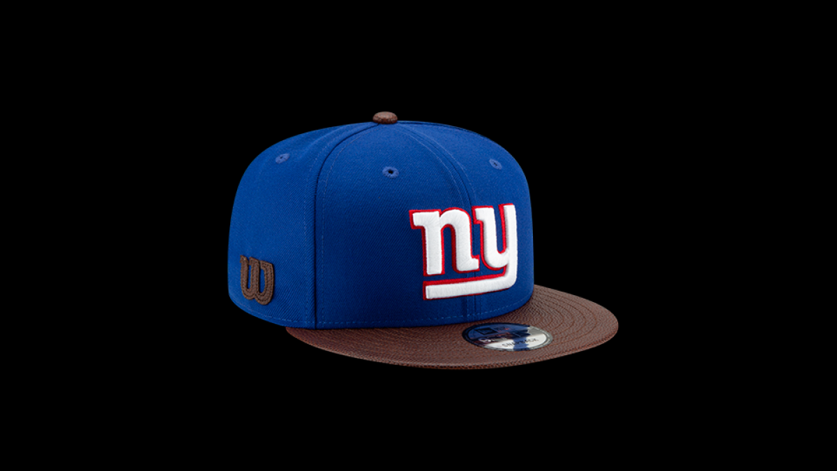new arrival fe09f e60a2 Wilson, New Era unveil limited-edition NFL hats featuring leather from  The  Duke  footballs - CBSSports.com