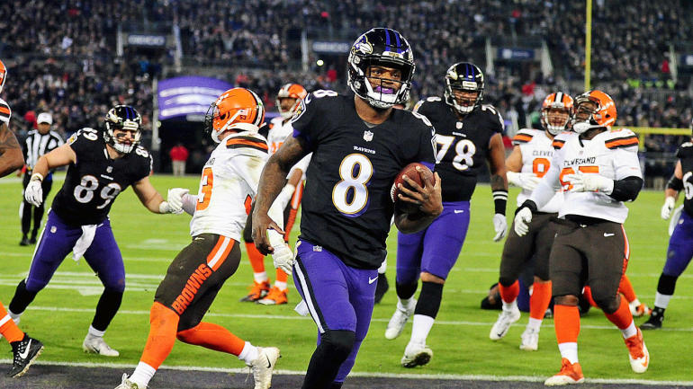 Ravens OC Greg Roman says the risk of Lamar Jackson taking big hits is   overrated  - CBSSports.com 0ebbbd648