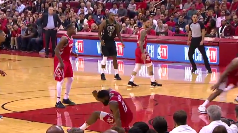 02c05110b Rockets  Giannis Antetokounmpo s bullet pass nails James Harden directly in  the head - CBSSports.com