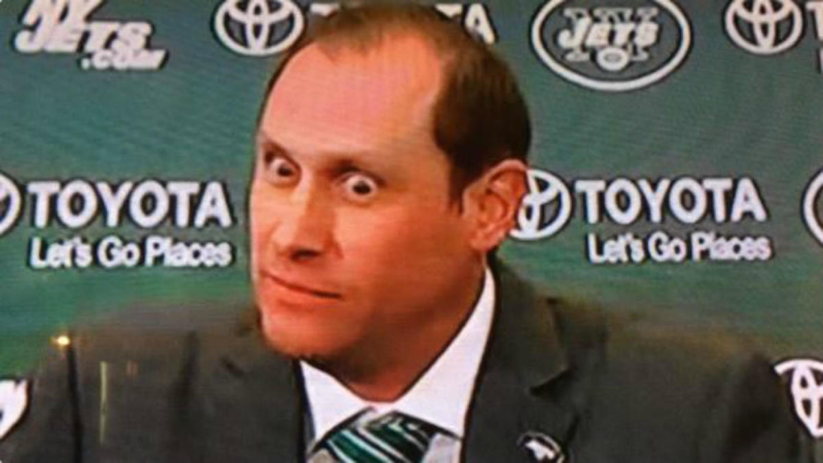 Adam Gase's eyes steal the show at his introductory press conference with  the Jets - CBSSports.com