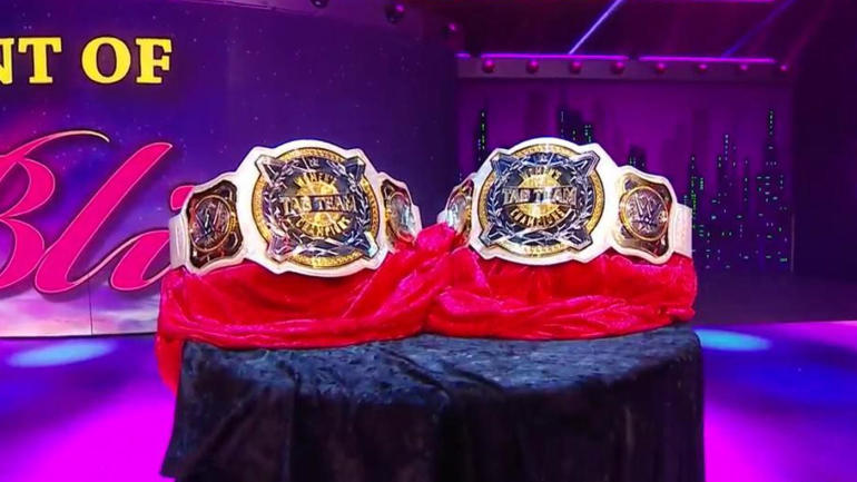 aa7530bac53e LOOK  WWE women s tag team titles unveiled