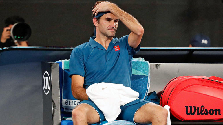 Two-time defending Aussie Open champ Federer is beaten