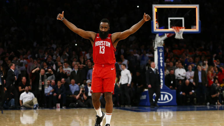 c722306f5150 Rockets  James Harden ties Kobe Bryant s MSG scoring record with franchise-high  61 points in win over Knicks - CBSSports.com