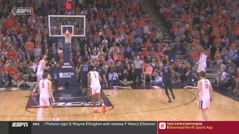 Duke Vs Virginia Watch Zion Williamson Hustle To Block Sattempt Into Theers