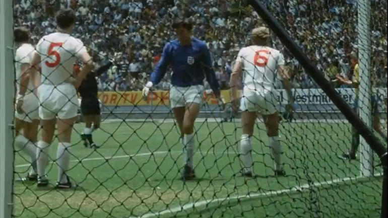 gordon banks  world cup winning goalkeeper for england in