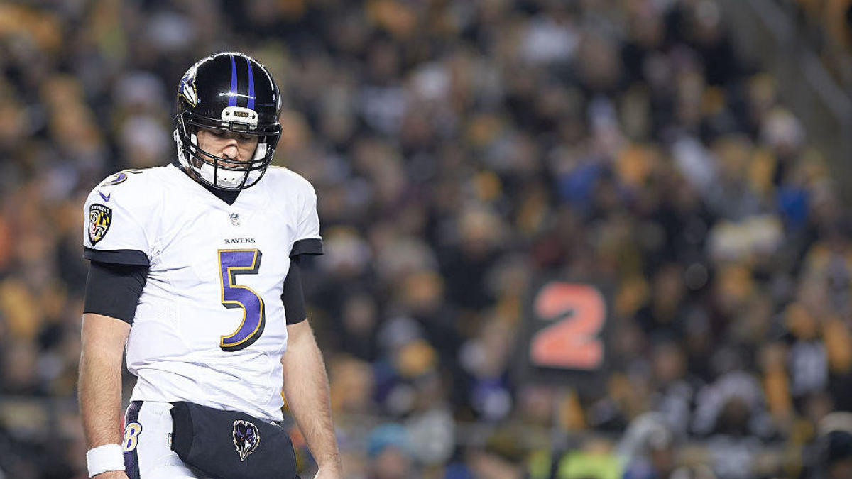 huge selection of 86392 12776 Joe Flacco trade actually made the Broncos' Super Bowl odds ...