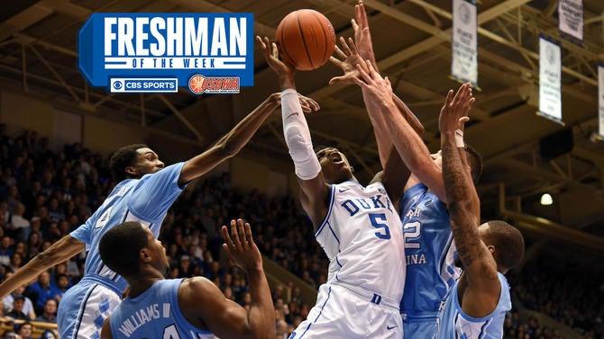 d97bea078e7f Freshman rankings  No. 2 Duke s RJ Barrett earns Freshman of the ...