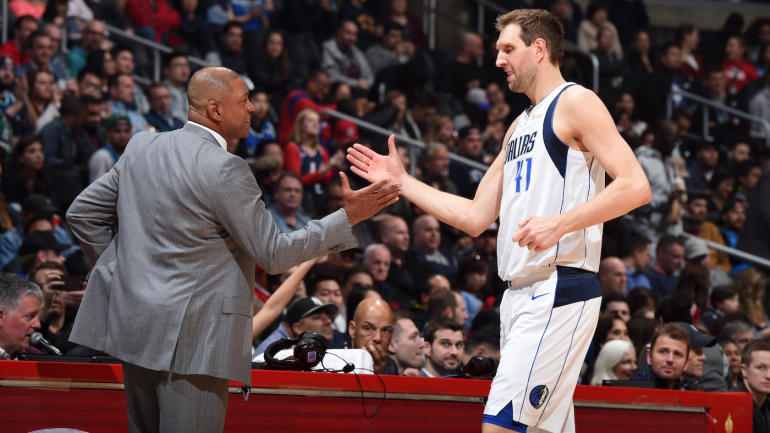 Doc Rivers stops game to honor Dirk Nowitzki in awesome moment at Staples  Center - CBSSports.com 8f922d9cd
