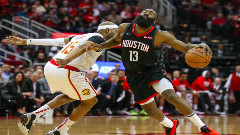 4be9be3260d1 James Harden s streak of games with at least 30 points ends at 32 in  Rockets  win over Hawks - CBSSports.com