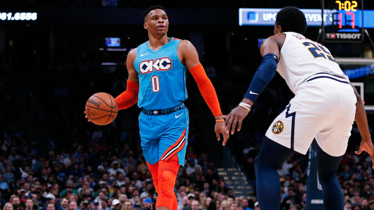 official photos c0c21 478b9 Russell Westbrook turns kid touching him in-game in Denver ...
