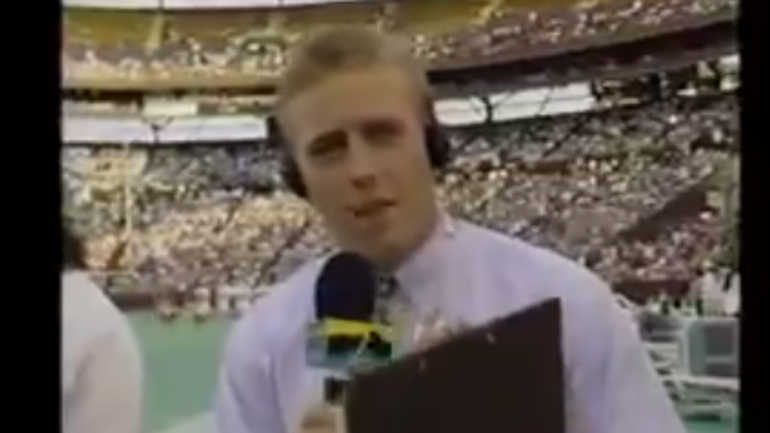 Rare footage of Kirk Herbstreit's first appearance on ESPN
