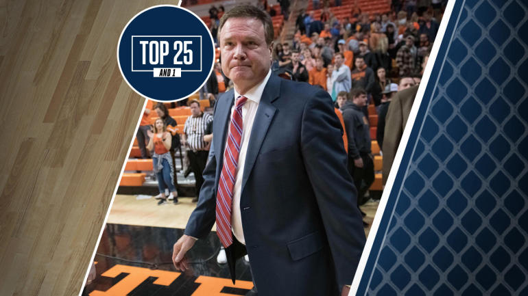 College basketball rankings: Kansas, No. 12 in Top 25 And 1, finds its streak of Big 12 titles in real ...