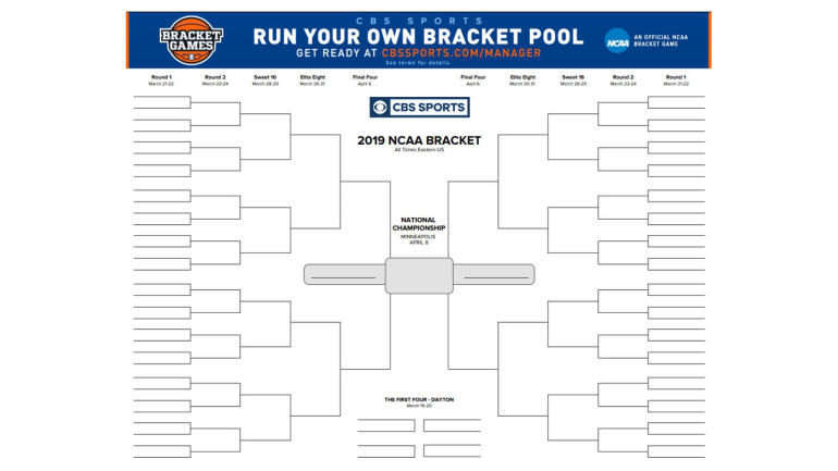 March Madness 2019 Printable Ncaa Tournament Bracket: NCAA Bracket 2019: Printable March Madness Bracket