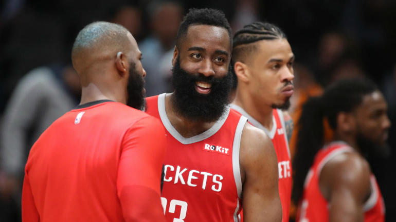 c12242534937 Rockets  James Harden becomes first player in NBA history to score at least  30 points against 29 other teams in a season - CBSSports.com
