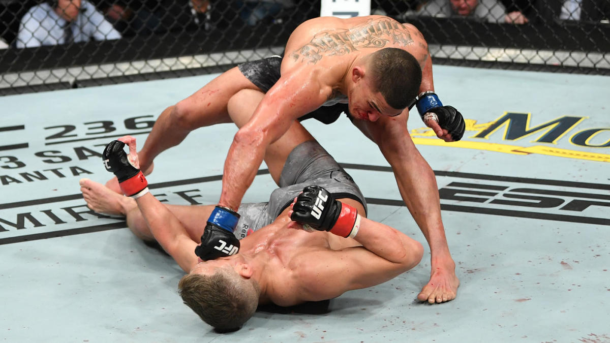 Ufc Fight Night 148 Results Highlights Anthony Pettis Pulls Off Upset In Knock Out Of Stephen Thompson Cbssports Com