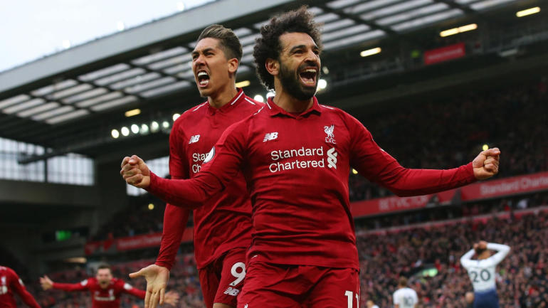 Image result for mohamed salah vs tottenham 2019