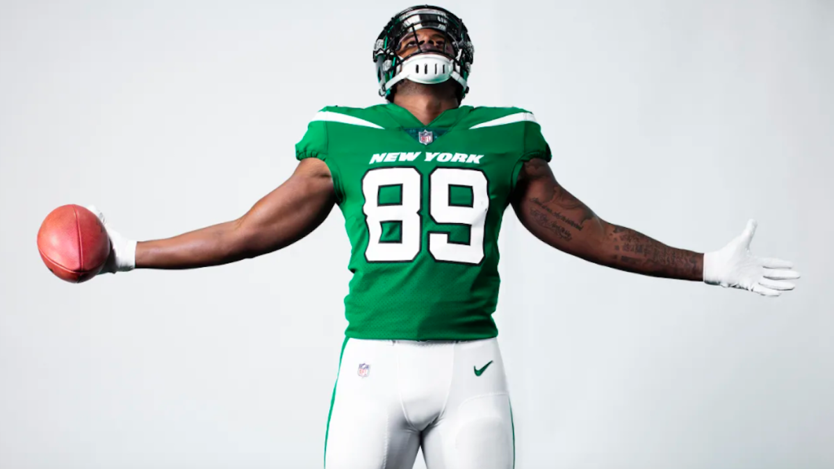 857984c8324 Jets unveil brand new logo and uniforms, including one jersey color the  team has never worn before - CBSSports.com