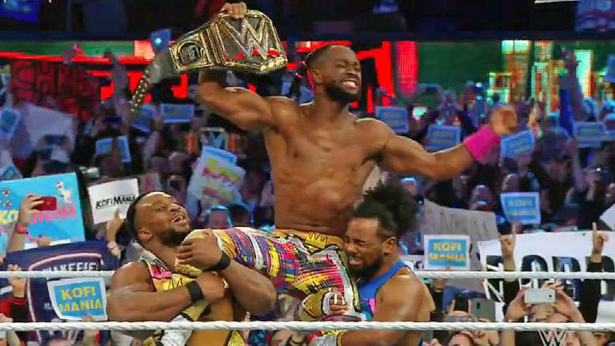 Resultado de imagem para kofi kingston wrestlemania 35