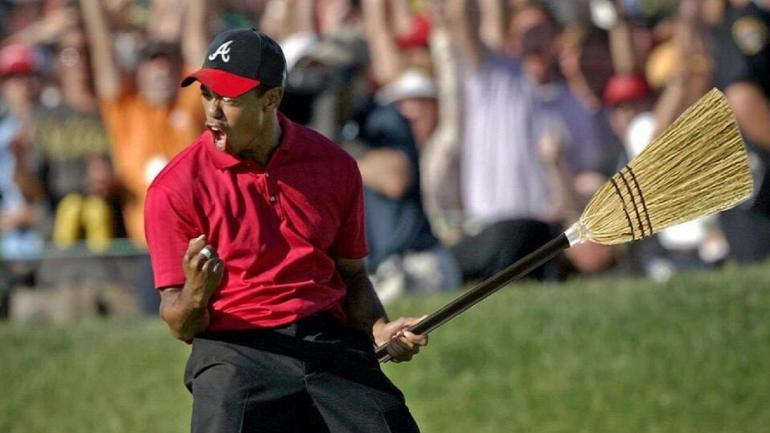 Braves Fans Rally Behind Bizarre Tiger Woods Meme With The