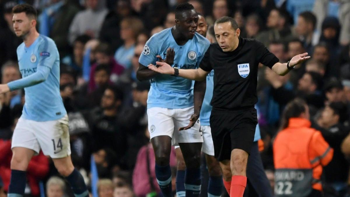 ผลการค้นหารูปภาพสำหรับ man city v spur uefa champions league referee rvar