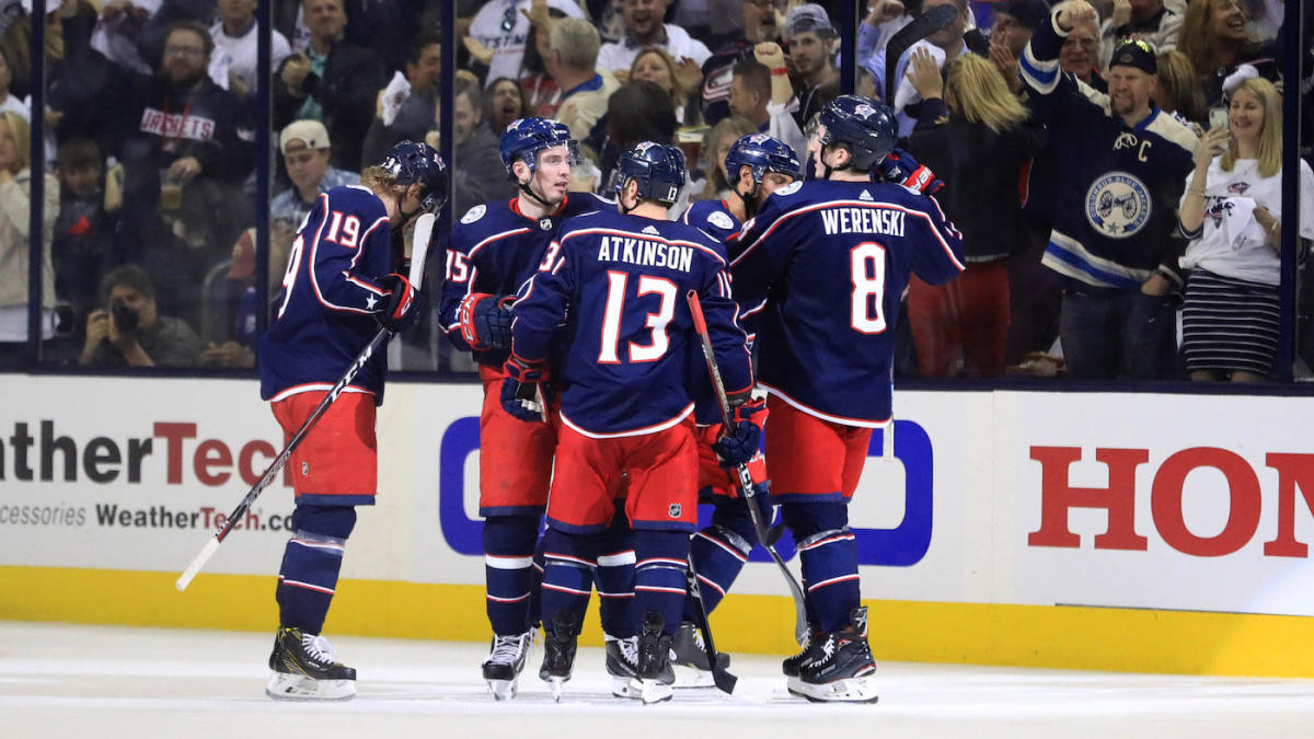 6d370cd6d2c 2019 Stanley Cup Playoffs  No. 1 seed Lightning swept by Blue Jackets in  historic first-round upset