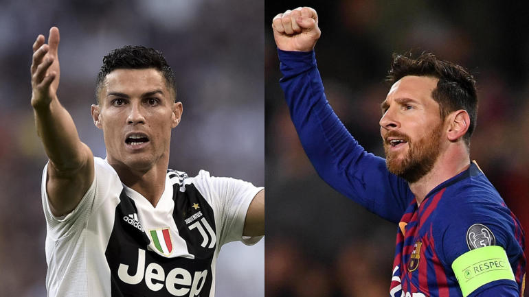 878ba3d1c3e Barca s Messi and Juve s Ronaldo score Champions League goals on same day