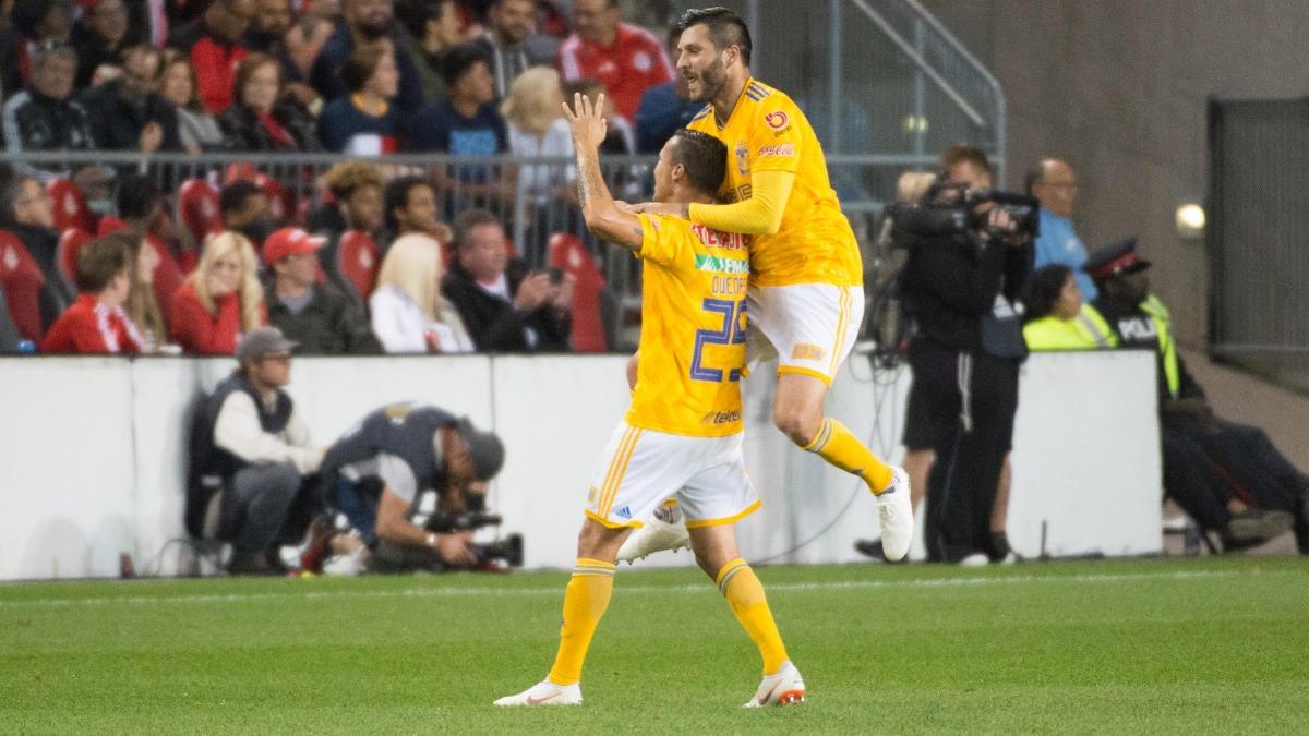 Tigres Uanl Vs Leon Score Gignac Makes Liga Mx History With Goal In First Leg Of Clasura 2019 Final Cbssports Com