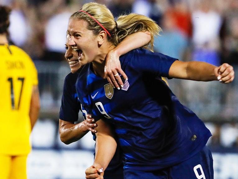 Soccer: Tournament of Nations Women's Soccer-USA at Australia