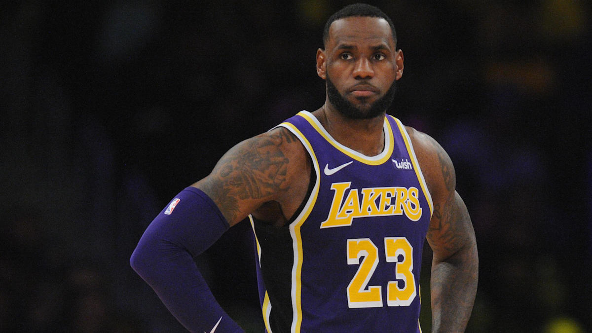 new product 3bf8a 85528 LeBron James does not sound happy about the way Magic Johnson stepped down  from the Lakers