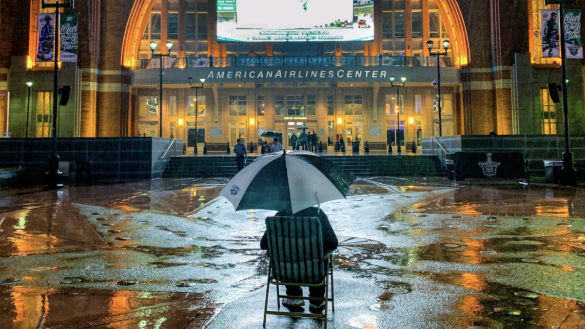 Stars give free tickets to fan who sat outside American Airlines Center in rain to watch Game 4