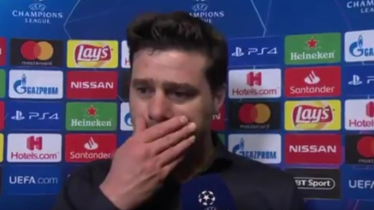 Pochettino Breaks Down In Tears As Spurs Advance To Champions League Final After Improbable Comeback Win Over Ajax Cbssports Com