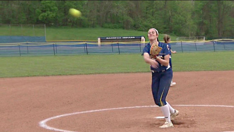 High school softball pitcher tosses historic perfect game