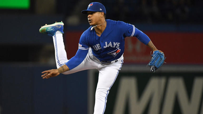 Marcus Stroman makes sure Blue Jays manager knows he's none too pleased with being pulled from start - CBS Sports