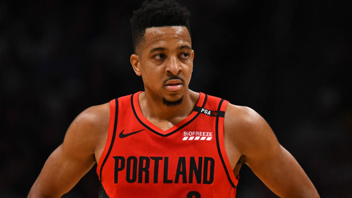 a24d9703248a NBA Playoffs 2019  Trail Blazers  CJ McCollum gets shoutout from LeBron  James after chasedown block in Game 7 win