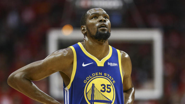 fbcf2be3fbc0 Kevin Durant injury update  Warriors star reportedly out for Game 2 vs. Trail  Blazers - CBSSports.com