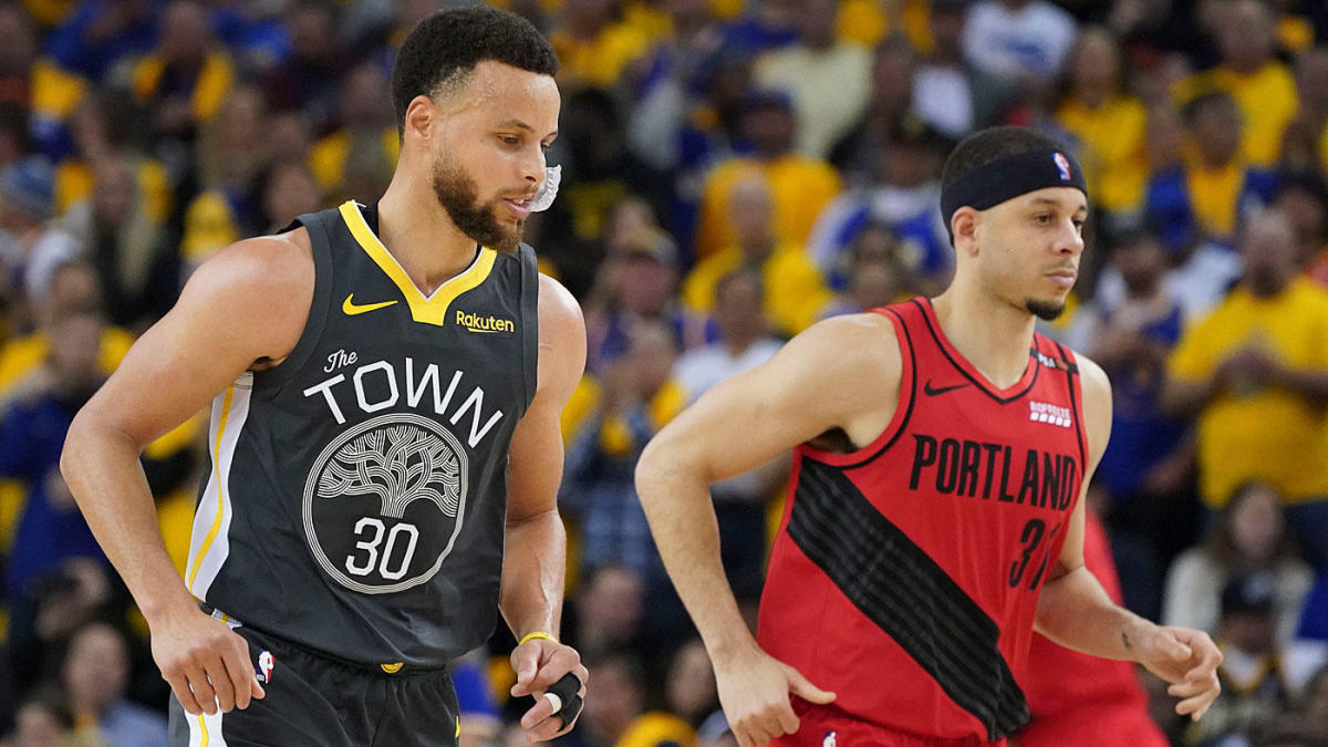 5bf88d3eaa70 Warriors vs. Blazers  With NBA Finals berth on the line